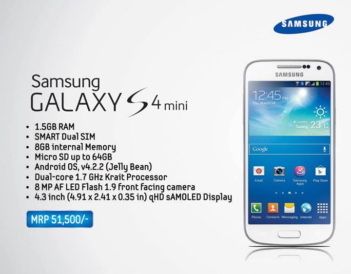 Specifications and price of Galaxy S4 Mini in Nepal ...
