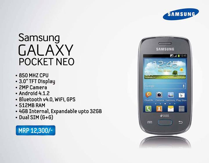 Samsung Galaxy Pocket Neo Specifications And Price In