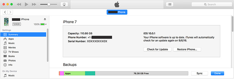 find iphone capacity from serial number